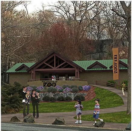 Zoo Entrance (Square, White Border)